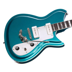 Rivolta Guitars COMBINATA DELUXE TREM - Adriatic Blue Metallic - Offset electric guitar from Dennis Fano - NEW!