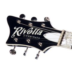 Rivolta Guitars Combinata VII Lefty - Toro Black Metallic - Left Handed - Offset electric guitar from Dennis Fano - NEW!