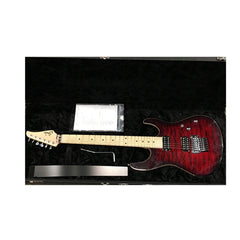 USED Suhr Guitars Custom Modern - Chili Pepper Red Burst - Quilt Top, 24 fret Boutique Electric Guitar
