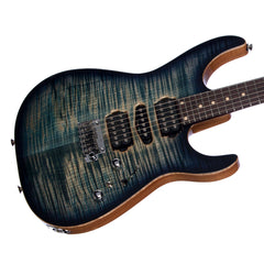 Tom Anderson Guitars Angel - Natural Arctic Blue Burst - 24 fret Electric Guitar - Flame Drop Top