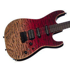 Tom Anderson Drop Top - Cajun Red Reverse Surf - Quilt - NAMM Show!