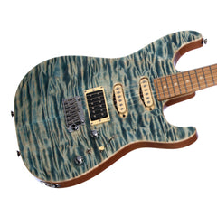 Tom Anderson Drop Top - Custom Boutique Electric Guitar - Quilt - Natural Blue!