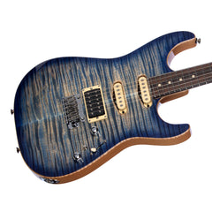Tom Anderson Drop Top - Natural Jacks Blue Burst w/ Binding - Custom Boutique Electric Guitar - NEW!