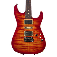 Tom Anderson Guitarworks Drop Top - Fire Burst with Binding - Custom Boutique Electric Guitar - 7.4lbs - NEW!