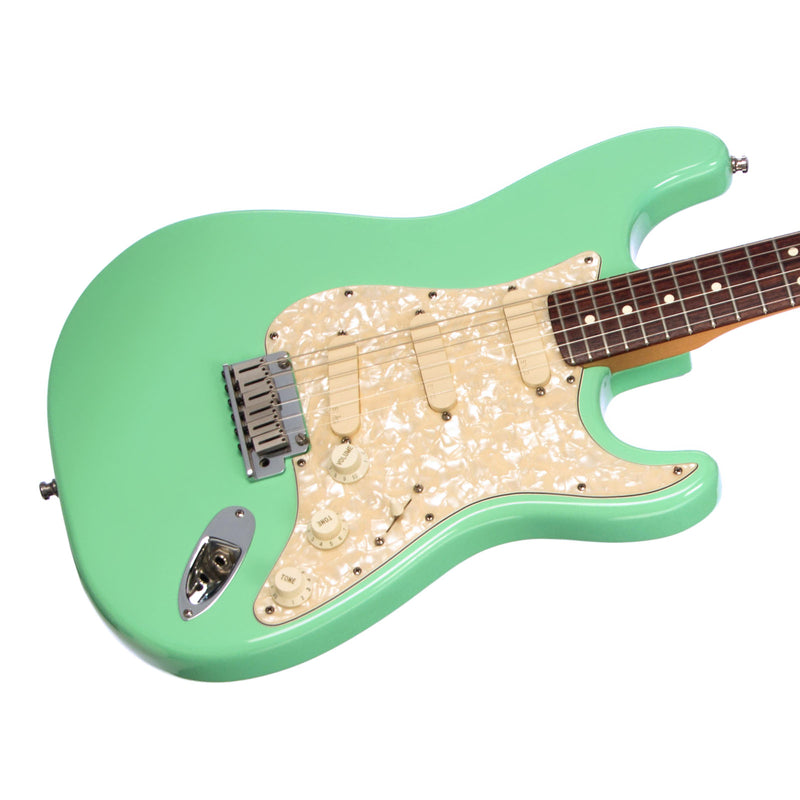 used 1995 fender american standard stratocaster seafoam green with m make 39 n music. Black Bedroom Furniture Sets. Home Design Ideas
