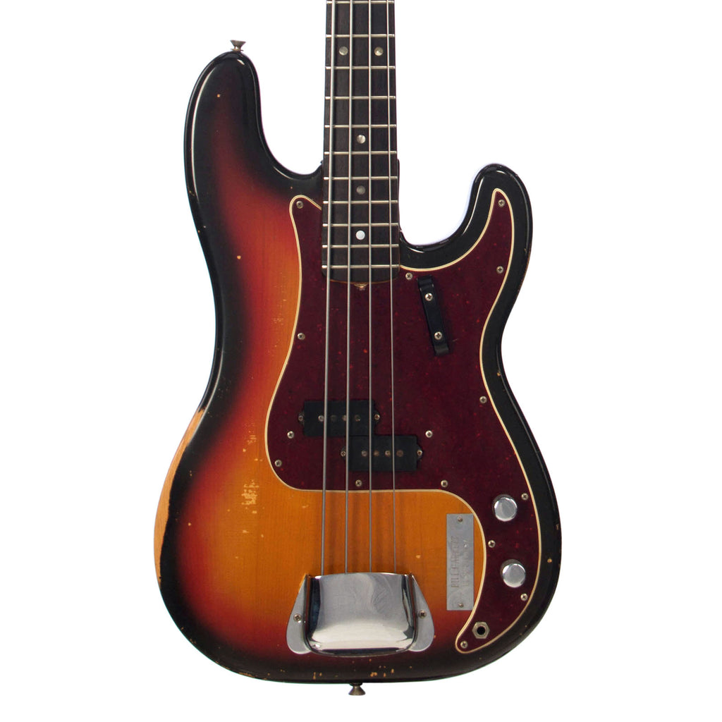 Fender 1969 P-Bass - Vintage Precision Bass - Used Electric Bass Guitar - Sunburst - NICE!!!