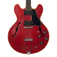 Vintage 1970-1972 Gibson ES-330 TDC - Cherry - Converted to Humbuckers, Ebony Fingerboard and custom John Watkins fingerboard Inlay - USED