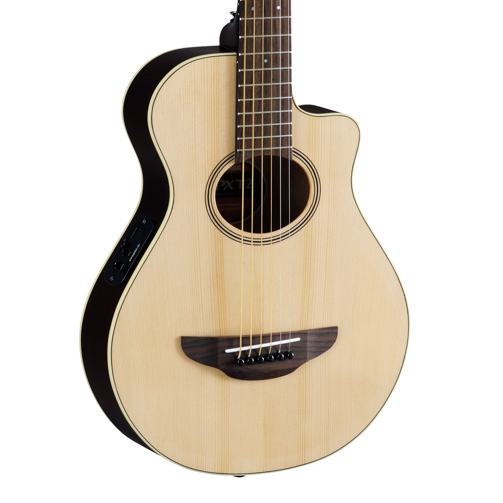 Yamaha Guitars Apxt2 Na Natural 34 Size Acoustic Electric Thinline Cutaway For Beginners Students Or Travel New