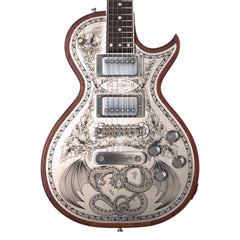 Zemaitis Guitars A24MF Dragonheart Metal Front - Natural