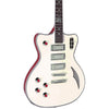 Eastwood Guitars Bill Nelson Astroluxe Cadet Vintage Cream and Fiesta Red LH Featured