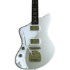 Eastwood Guitars Jeff Senn Model One Baritone Sonic Silver LH Featured