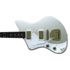 Eastwood Guitars Jeff Senn Model One Baritone Sonic Silver LH Angled