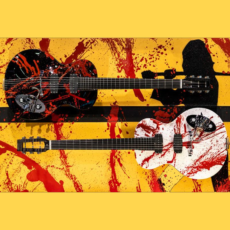 Di Donato Guitars Revenge is a Dish Best Served Cold - One of a Kind Custom Artwork and 2 Guitars!