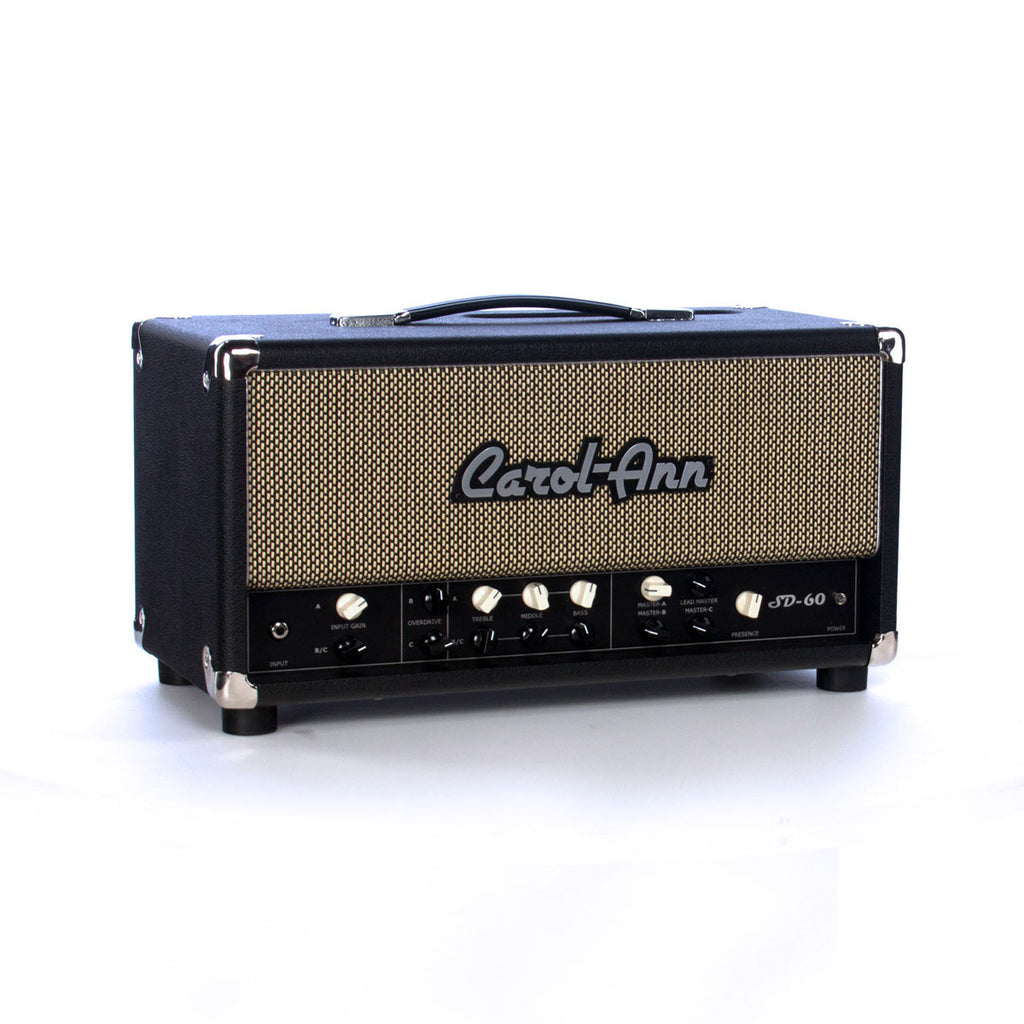 Carol Ann Amps SD-60 Head - 60 watt, 3-channel Tucana / Triptik for hard rock - Tube Guitar Amplifier - NEW!