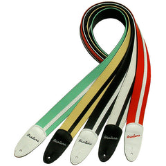 Airline Custom Leather Guitar Strap - White