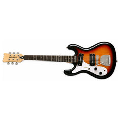 Eastwood Guitars Hi-Flyer PHASE 4 DLX Lefty - Sunburst - Left Handed Univox Hi-Flier Replica - NEW!