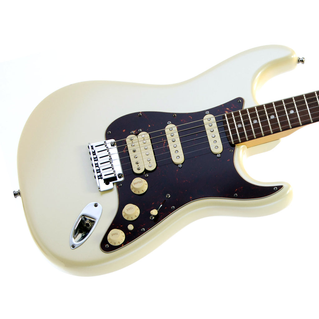 used fender american deluxe stratocaster hss rosewood olympic white make 39 n music. Black Bedroom Furniture Sets. Home Design Ideas