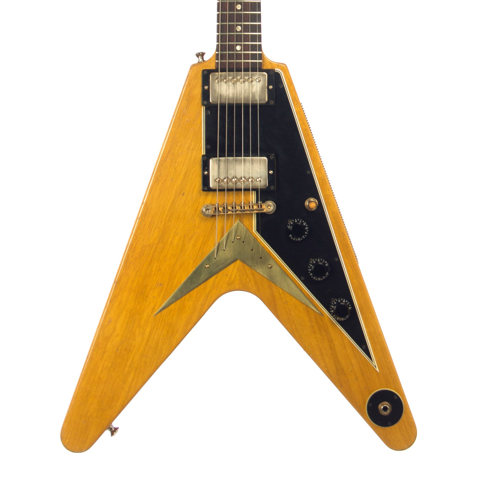used gibson custom 50th anniversary 1958 flying v korina reissue rh makenmusic com
