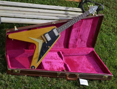 Used Gibson Custom 50th Anniversary 1958 Flying V Korina Reissue Historic Makeovers