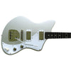 Eastwood Guitars Jeff Senn Model One Baritone Sonic Silver Angled