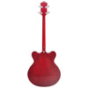 Eastwood Guitars Classic Tenor Redburst Full Back