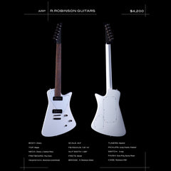 R Robinson Guitars ARP - White - Custom Hand-Made Electric - Boutique Guitar Showcase!