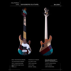 Sandberg Guitars California Series VM5 - Patchwork - Custom 5-string Electric Bass - Boutique Guitar Showcase!