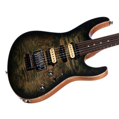 Suhr Custom Modern Carve Top Limited Edition - Faded Trans Green Burst