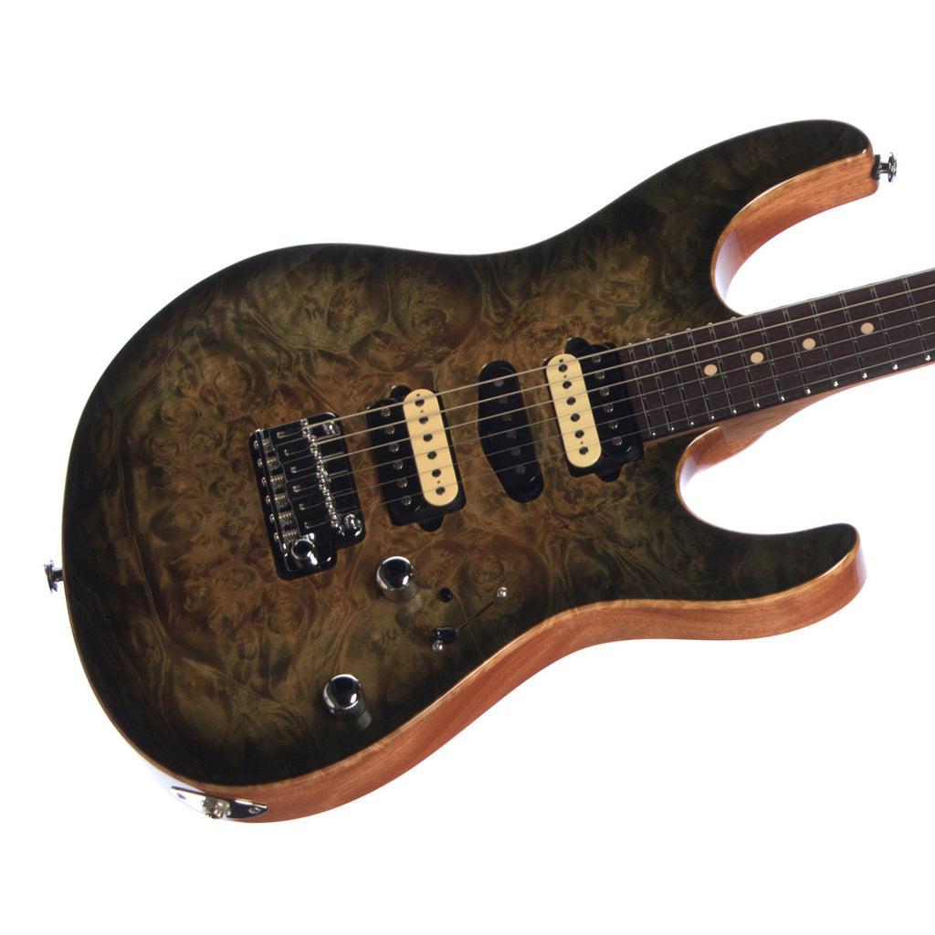Suhr Custom Modern Limited Edition - Faded Trans Green Burst