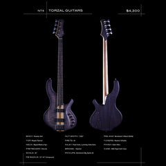 Torzal Guitars NT4 Twist Neck - Custom Hand-Made Electric Bass - Boutique Guitar Showcase!