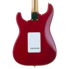 Used Fender Deluxe Player Stratocaster - Crimson Red Transparent