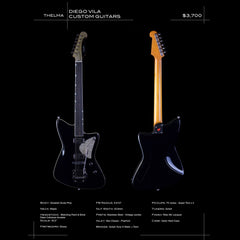 Diego Vila Custom Guitars Thema - Gloss Black Relic - Custom Hand-Made Electric - Boutique Guitar Showcase!
