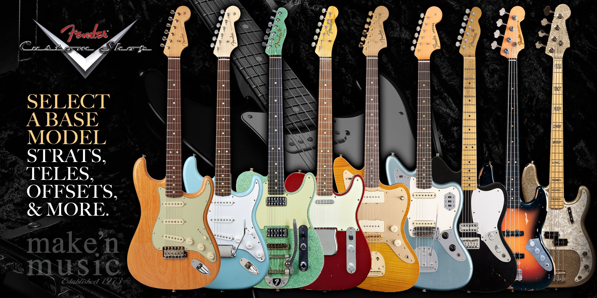 Fender Custom Shop Models - Strats, Teles, Offsets