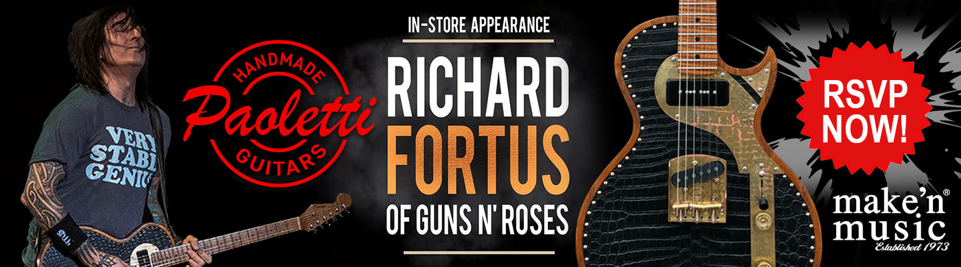 Richard Fortus of Guns N' Roses In-Store Appearance