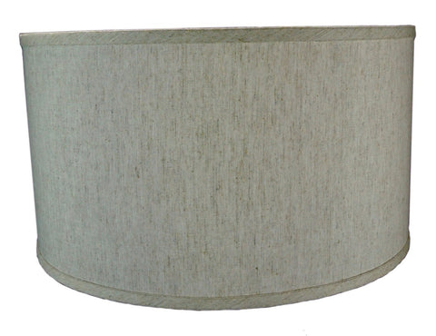 0-002029>Textured Oatmeal  Shallow Drum Lampshade 16x16x11