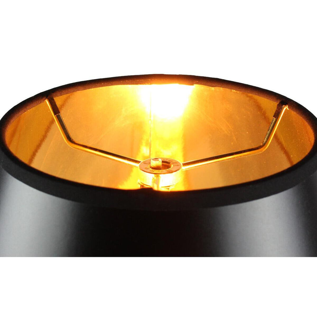 0-002000>Swag Pendant Plug-In One Light Bold Black/Gold Shade