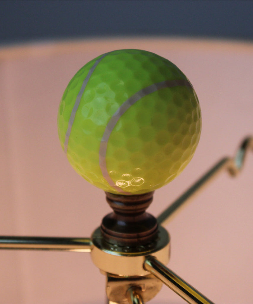 "0-009291>Tennis Ball Lamp Finial, Yellow, 2.25""h"