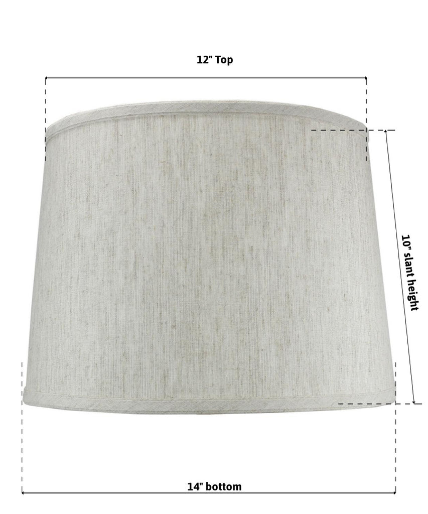 0-005926>12x14x10 SLIP UNO FITTER Textured Oatmeal Drum Shade