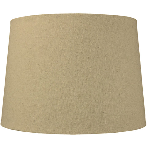 0-000424>12x14x10 Sand Linen Drum Lampshade