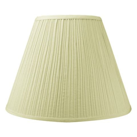 0-015728>8x16x12 SLIP UNO FITTER Empire Coolie EggShell Mushroom Pleat Hardback Shade
