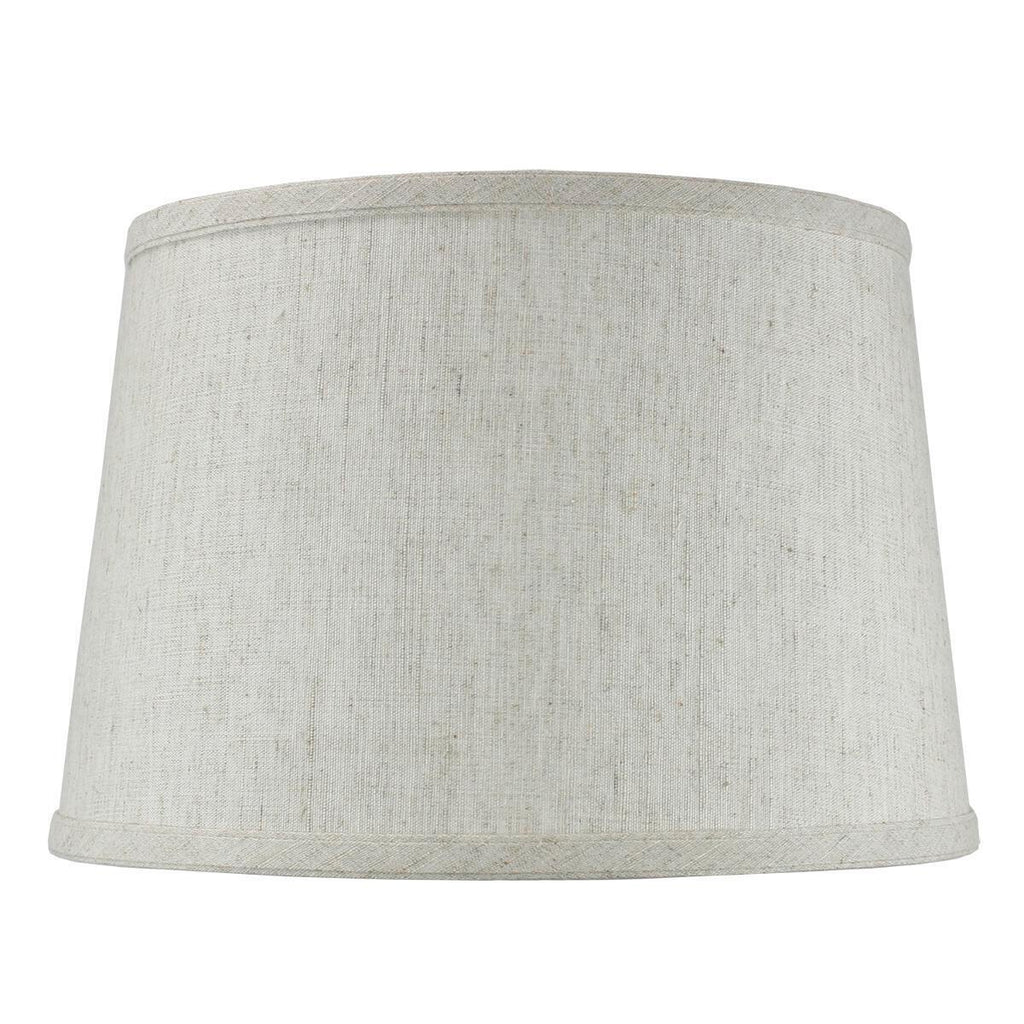 10x12x08 SLIP UNO FITTER Hardback Shallow Drum Lamp Shade Textured