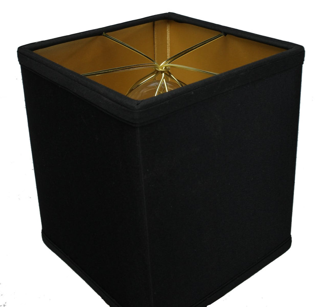 "Rectangular Drum Lampshade (6x6) (6x6) x 7"" Black"