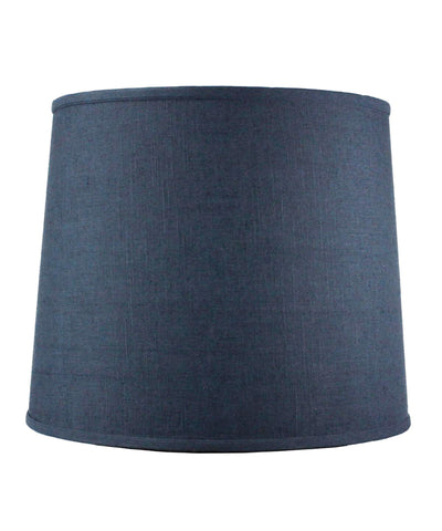 0-005782>12x14x14 SLIP UNO FITTER Textured Slate Blue Drum Shade