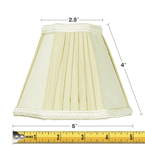0-004629>3x5x5 Egg Beige Chandelier Clip-On Lampshade