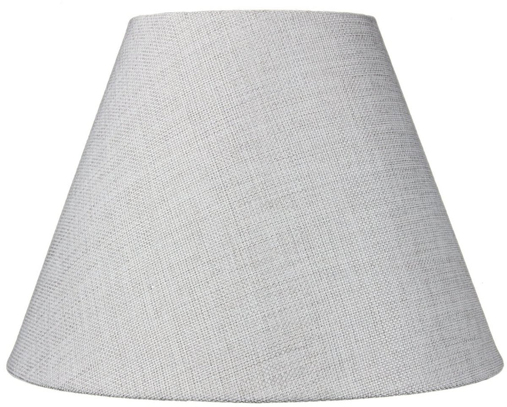 0-002433>6x12x9 Hard Back Empire Lamp Shade - Khaki Burlap
