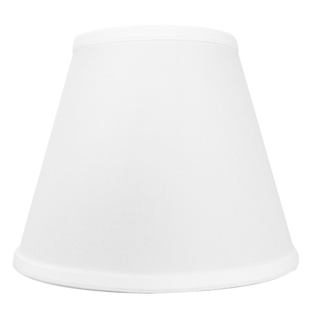 0-000125>5x10x8 White Hardback Empire Lampshade