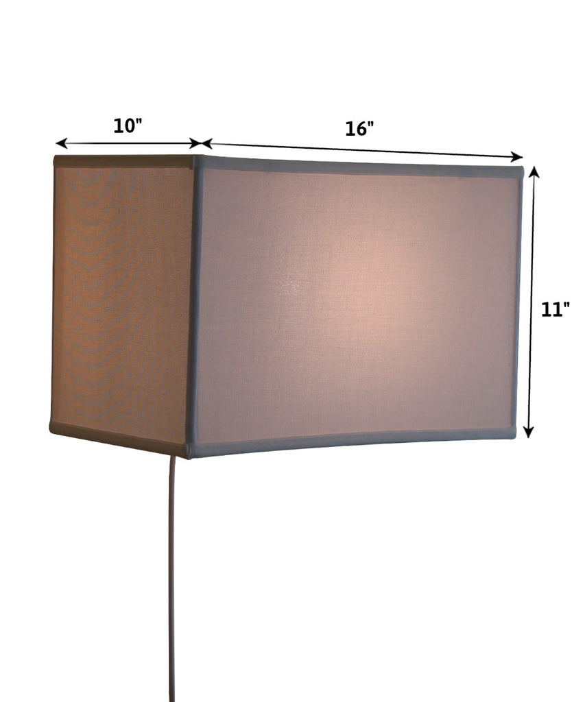 0-001059>Floating Shade Plug-In Wall Light White (10x16) (10x16) x 11