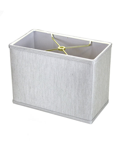 "0-002032>Rectangular Drum Lampshade (6.5x12) (6.5x12) x 9"" Textured Oatmeal"