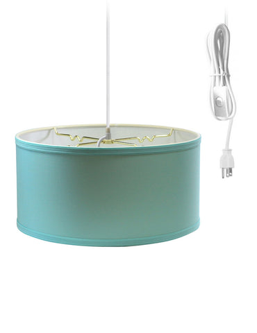 0-000769>Island Paridise Blue 2 Light Swag Plug-In Pendant with Diffuser