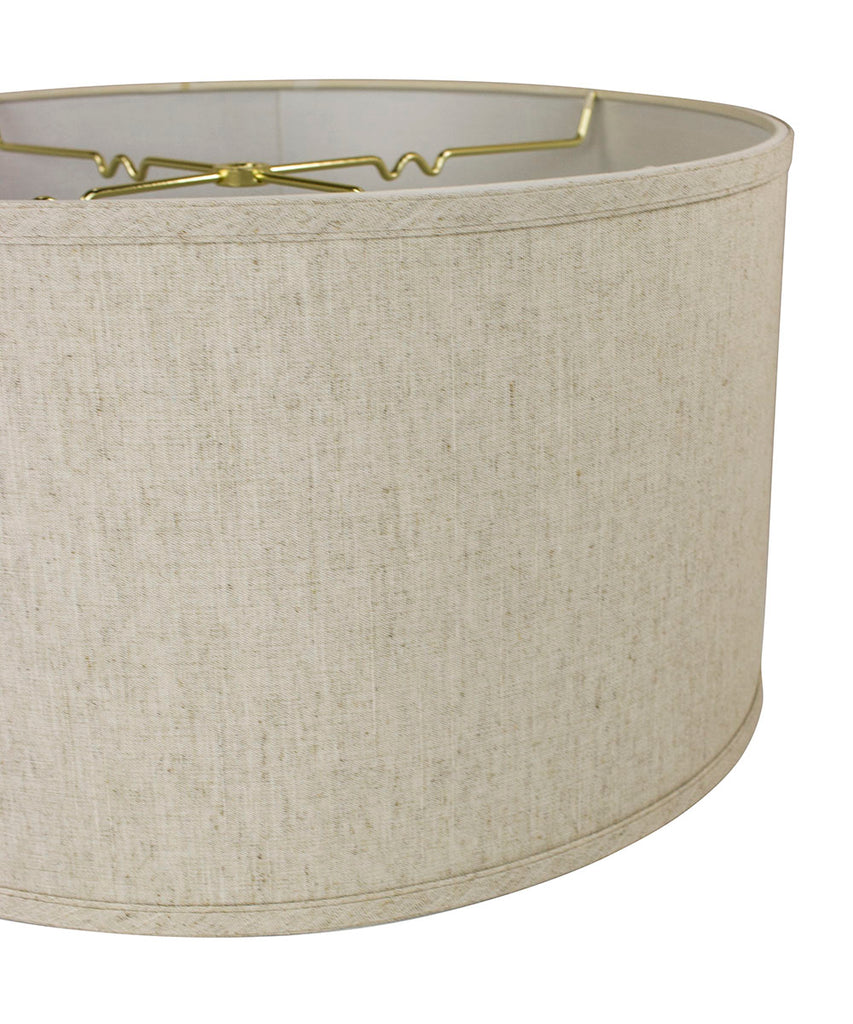 "0-0021402>Textured Oatmeal Shallow Drum Lampshade 18""x18""x10"""